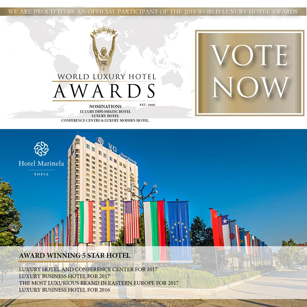 """Хотел """"Маринела"""" отново се нарежда сред най-луксозните хотели в света с номинации за World Luxury Hotel Awards"""